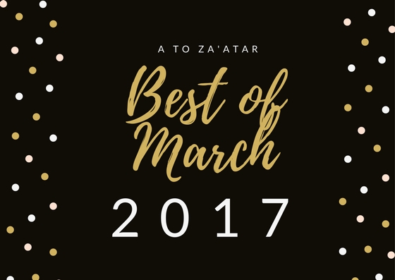 My Top Dishes of March 2017.