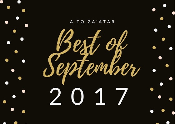 My Top Dishes of September 2017.