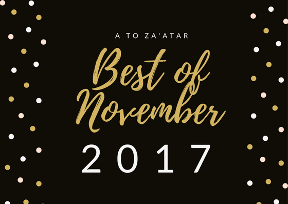 My Top Dishes of November 2017.