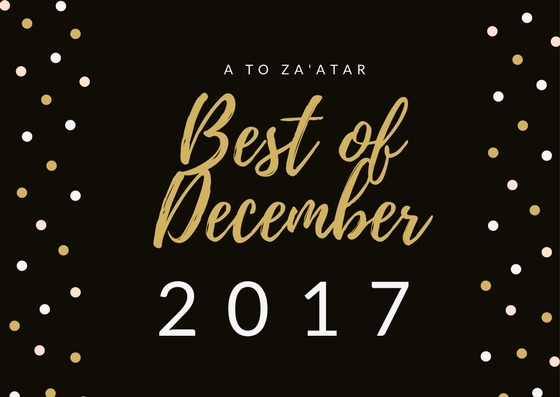 My Top Dishes of December 2017.
