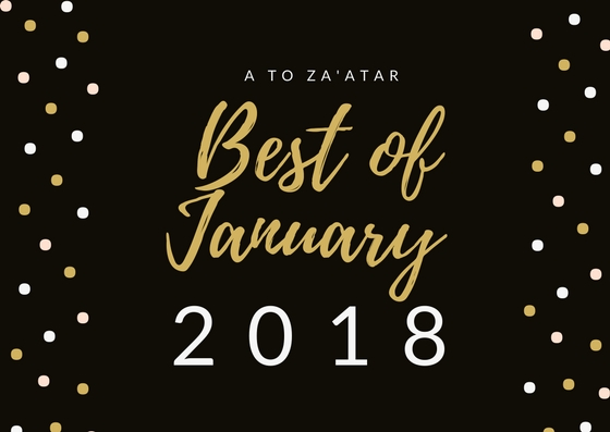 My Top Dishes of January 2018.