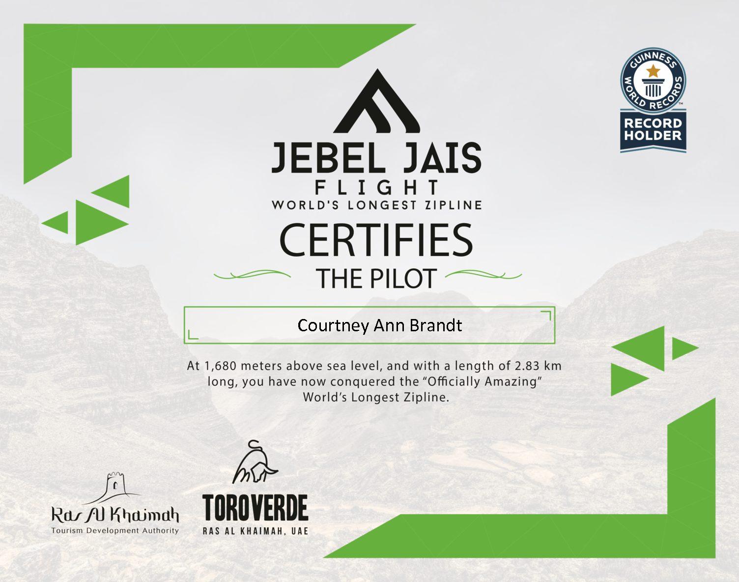 Jebel Jais Flight: The world's longest zipline.