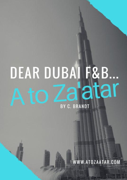 Dear UAE F&B, A few suggestions for you…
