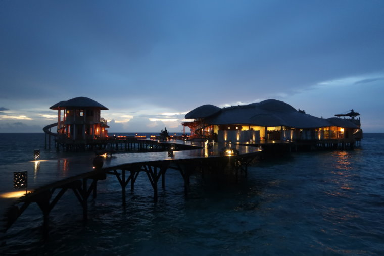 Soneva Fushi: Out of the Blue, Overwater Dining.