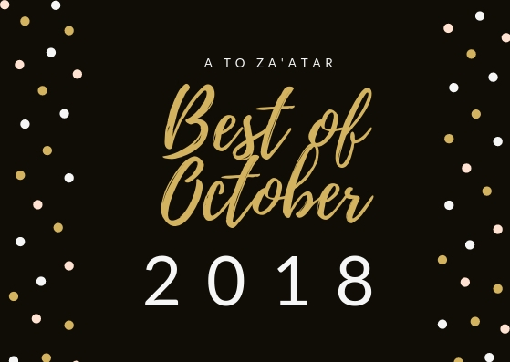 My Top Dishes of October 2018.