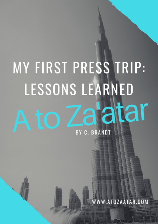 My first press trip: So many lessons.