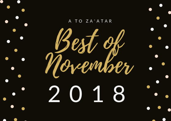 My Top Dishes of November 2018.