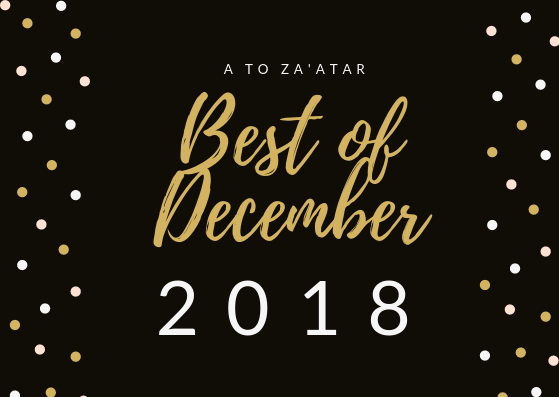 My Top Dishes of December 2018.