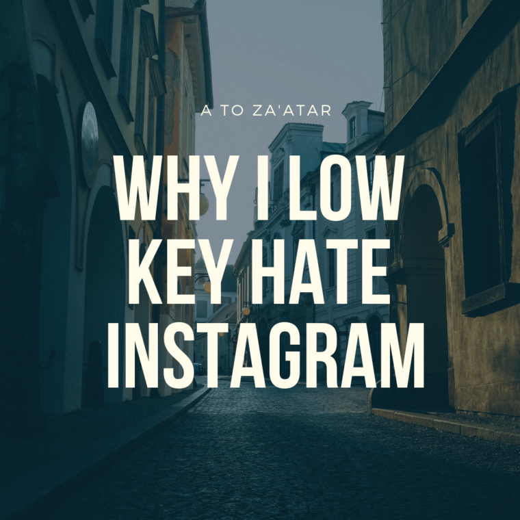 I low key hate Instagram.  Here's why…