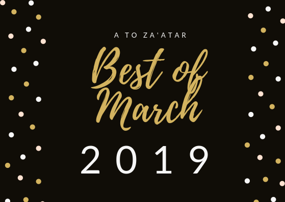 My Top Dishes of March 2019.